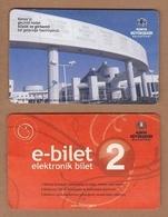 AC - BUS, TRAM DOUBLE RIDE CARD MEVLANA KULTUR MERKEZI KONYA, TURKEY - Transportation Tickets