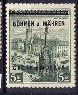 Böhmen Und Mähren 1939 Mi 18 ** [070419XXVI] - Occupation 1938-45