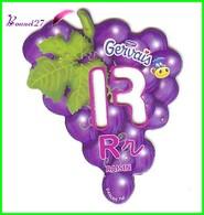 """Magnet Pochoir GERVAIS L'Alphabet Avec Les Fruits Et Les Légumes """" Le R De Raisin """" - Letters & Digits"""