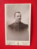 Militaria - Photographie Ancienne CDV - Militaire Du 132 ème RI - Photo E. Belval, Reims - 1895 - TBE - Guerra, Militares