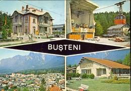 Postcard, Romania, Stationery, Code 3701-82, Busteni, Views, Used 1983 - Entiers Postaux