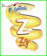 """Magnet Pochoir GERVAIS L'Alphabet Avec Les Fruits Et Les Légumes """" Le Z De Zeste """" - Letters & Digits"""
