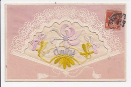CPA BRODEE Amitié - Embroidered