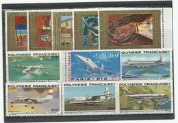 Polynésie,PA ** Série 98/102-103-148/152, Cote YT 88€60 - Posta Aerea