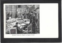 CPA Roumanie Romania Roemenie Non Circulé Voir Scan Du Dos Assassinat Du Roi Et De La Reine Serbie - Rumänien