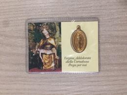 Santino Con Medaglietta Vergine Addolorata Della Cornabusa In Cepino Di S. Omobono (bg) - Santini
