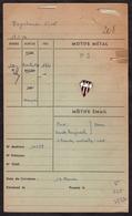 INSIGNE BOUTONNIERE DU PEYREHORADE SPORTIF RUGBY - FICHE FABRICANT DE 1956  ET INSIGNE SPECIMEN ROUGE DE 1940 - Rugby