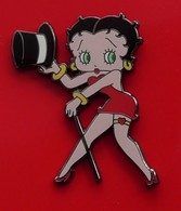 Modern Enamel Pin Badge Betty Boop Character Red Dress Outfit Top Hat Stick - Celebrities