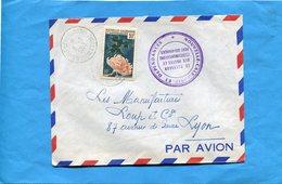 Marcophilie-lettre -NLLE Calédonie-pour Françe-cad-pont Des Français -1963-- Stamps-N°293-fleur-claucus - Covers & Documents