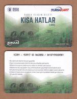 AC - SINGLE RIDE METROCARD, BUS CARD FOR PUBLIC TRANSPORTATION ABDAL KOPRUSU 1669 BURSA, TURKEY - Transportation Tickets