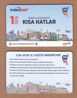 AC - SINGLE RIDE METROCARD, BUS CARD FOR PUBLIC TRANSPORTATION BURSA, TURKEY - Transportation Tickets