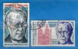 (Us3) ) BENIN ° 1976 - Aériens -Konrad Adenauer - Yvert. 256-257.  Vedi Descrizione. - Benin – Dahomey (1960-...)