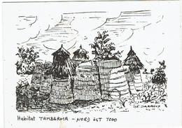 CARTE DOUBLE - TOGO - Habitat TAMBERMA - DAPAONG - - Togo