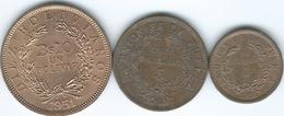 Bolivia - 1951 - 1, 5 & 10 Bolivianos - (KMs 184-196) Bronze - Bolivia
