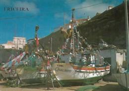 Portugal Ericeira Barcos De Pescadores Bateaux De Pêche Fishing Boats Usado Usée Used - Lisboa
