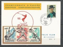 Belgique: E98 Sur 2 Cartes + Le BF ** - Commemorative Labels