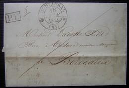 Montauban 1832 Lettre En Port Payé Pour Bordeaux - Poststempel (Briefe)
