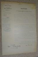 Rapport De L'ingénieur Adjoint Du Service Vicinal  Hérault Béziers Cir. St Gervais Sur Mare 1930 - - Documents Historiques