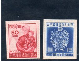 JAPON 1947 SANS GOMME - 1926-89 Empereur Hirohito (Ere Showa)