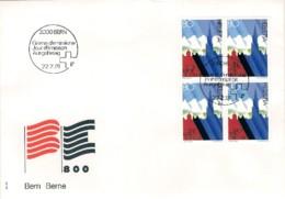 """1991-Svizzera Quartina S.1v.""""8 Centenario Della Citta' Di Berna""""su Fdc Illustrata - FDC"""