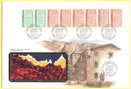 ANDORRA - ANDORRE - 1987 - Carnet De 8 Timbres Postals - FDC - Grande Enveloppe - FDC