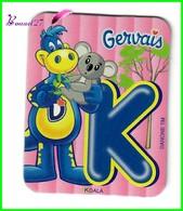 """Magnet GERVAIS L'Alphabet Avec Les Les Animaux Et Objet """" Le K De Koala """" - Letters & Digits"""