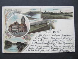 AK KORNEUBURG Bisamberg Litho 1901 ///   D*37747 - Korneuburg