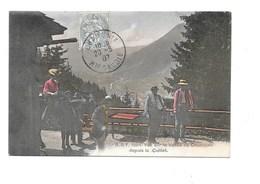 Vue Sur La Vallée De CHAMONIX Depuis Le Caillet. (Chalet Buvette, Mulet) - Chamonix-Mont-Blanc