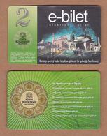 AC - BUS, TRAM DOUBLE RIDE CARD FOR PUBLIC TRANSPORTATION KONYA, TURKEY - Transportation Tickets