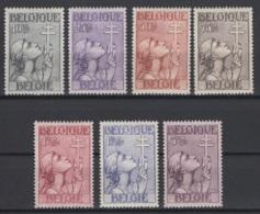 1933. COB N° 377/83 *, MH. Cote COB 2018 : 265 € - Neufs