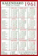 ESPERANTO CALENDAR 1961 - Calendars