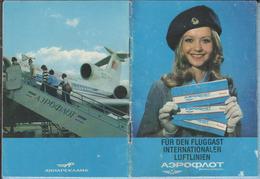 USSR / Soviet Union / Advertising Booklet. Avia- Civil Aviation. Soviet Airlines AEROFLOT. In German. 1970s - Posters