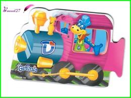 """Magnet GERVAIS Le Train Des Chiffres """" La Locomotive Rose """" - Letters & Digits"""