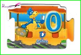 """Magnet GERVAIS Le Train Des Chiffres """" Le Wagon Avec Le Chiffre 0 """" - Letters & Digits"""