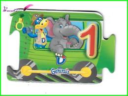 """Magnet GERVAIS Le Train Des Chiffres """" Le Wagon Avec Le Chiffre 1 """" Un Éléphant - Letters & Digits"""