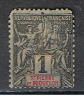 (SPM 1) ST. PIERRE ET MIQUELON // YVERT 59 // 1892 - St.Pierre Et Miquelon