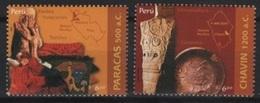 Peru (2006) Yv. 1540/41  /  Heritage - Archeology - Archeologie - Arqueologia - Chavin - Archaeology - Archeologie