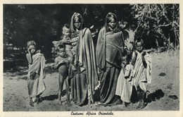 Italian East Africa, Group Of Native Women And Children (1930s) Postcard - Cartoline
