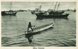 Italian East Africa, Harbour Scene, Native Rowing Boat (1930s) Postcard - Cartoline