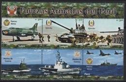Peru (2005) Yv. 1480/85  /  Military - Bateaux - Ships - Schiffe - Barche - Army - Airplane - Avion - Militaria