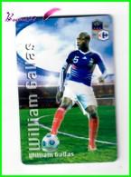 """Magnet En Relief  Carrefour 2010 Les Joueurs De L'Equipe De France De Football """" William GALLAS """" - Letters & Digits"""