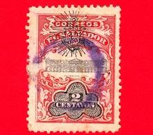 EL SALVADOR - Usato - 1907 - Palacio Nacional - Servizio - UPU - Sovrastampato - 2 - El Salvador
