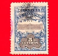 EL SALVADOR - Usato - 1907 - Palacio Nacional - Servizio - UPU - Sovrastampato - 5 - El Salvador