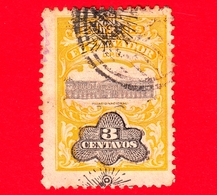 EL SALVADOR - Usato - 1907 - Palacio Nacional - Servizio - UPU - Sovrastampato - 3 - El Salvador