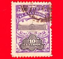EL SALVADOR - Usato - 1907 - Palacio Nacional - Servizio - UPU - Sovrastampato - 10 - El Salvador