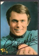 """Alain Barrière  - Autographe Original Sur Carte   """" Barclay """" - Autogramme & Autographen"""