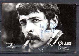 """Gilles Dreu - Autographe Original Sur Carte   """" Disc AZ """" - Autographes"""