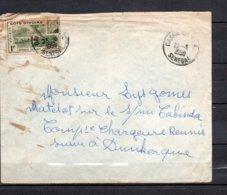 """Cote D'Ivoire  - N° 179 Obli/sur Lettre  Pour Dunkerque + Cachet """" C. Maritime Des Chargeurs Reunis , Cabinda """" - Côte-d'Ivoire (1892-1944)"""