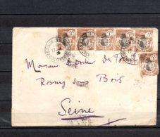Indochine - N° 41 X6  Obli/sur Lettre Pour La France - 15/05/1928 - Indochine (1889-1945)