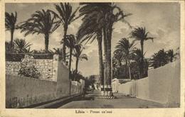 Libya, TRIPOLI, Presso Un'Oasi, At An Oasis (1943) Postcard - Libia